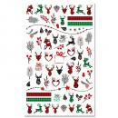 Weihnachts X-Mas Nagel Sticker F800