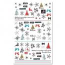 Weihnachts X-Mas Nagel Sticker F801
