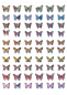 Mobile Preview: Schmetterling Holo Nagel Sticker D3702