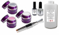 Preview: Professional Polyacryl Gel Starter Set 3x 5ml - 100ml Cleaner - 12ml Primer - 15ml Quickfinish - Polyacryl Pinsel