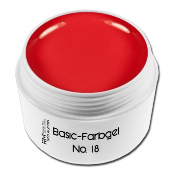Basic Farbgel No. 18 Rot