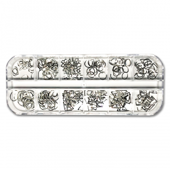 Inlay Overlay Set mit 12 Motiven in Silber