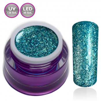 Premium Chrome Glitter Gel No. 25 Mambo Blue