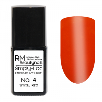 Simply-Lac Premium UV-Polish Nr. 4 Simply Red 10ml