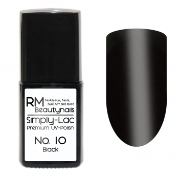 Simply-Lac Premium UV-Polish Nr. 10 Black 10ml