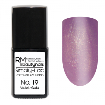 Simply-Lac Premium UV-Polish Nr. 19 Violet-Gold 10ml