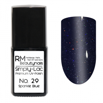 Simply-Lac Premium UV-Polish Nr. 29 Sparkle Blue 10ml