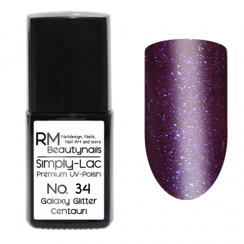 Simply-Lac Premium UV-Polish Nr. 34 Galaxy Glitter Centauri 10ml