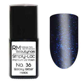 Simply-Lac Premium UV-Polish Nr. 36 Galaxy Glitter Helios 10ml