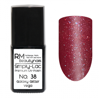 Simply-Lac Premium UV-Polish Nr. 38 Galaxy Glitter Vega 10ml