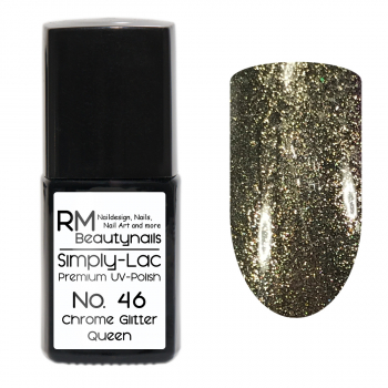 Simply-Lac Premium UV-Polish Nr. 46 Chrome Glitter Queen 10ml