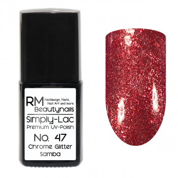 Simply-Lac Premium UV-Polish Nr. 47 Chrome Glitter Samba 10ml
