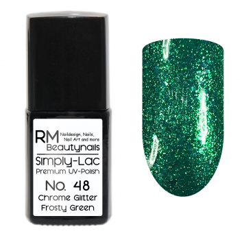 Simply-Lac Premium UV-Polish Nr. 48 Chrome Glitter Frosty Green 10ml