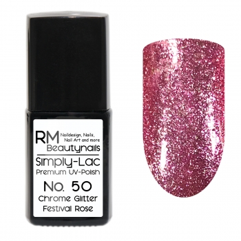 Simply-Lac Premium UV-Polish Nr. 50 Chrome Glitter Festival Rose 10ml