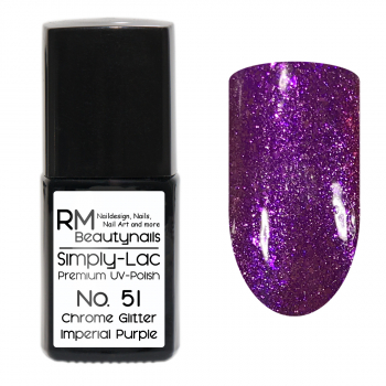 Simply-Lac Premium UV-Polish Nr. 51 Chrome Glitter Imperial Purple 10ml