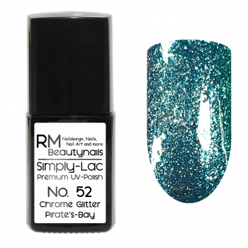 Simply-Lac Premium UV-Polish Nr. 52 Chrome Glitter Pirate's Bay 10ml