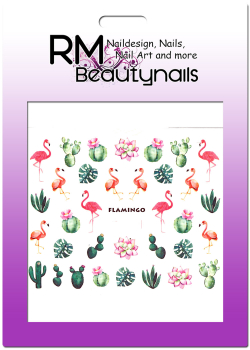 Flamingo Sticker Nail Wrap B919