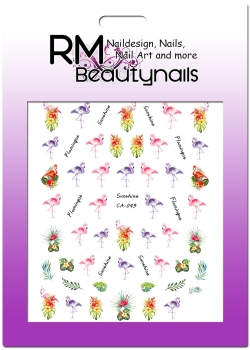 XL Flamingo Sticker Nail Wrap CA049