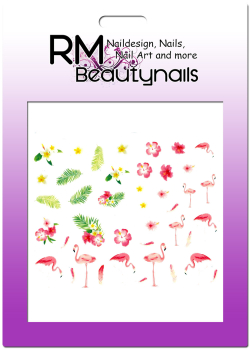 Flamingo Sticker Nail Wrap E809