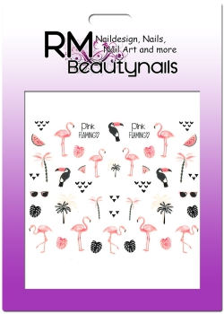 Flamingo Sticker Nail Wrap E812