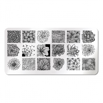 Stamping Schablone Flowers J001