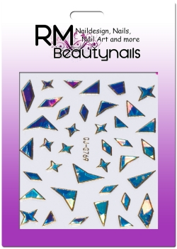 Nail Wrap Holo Splitter Sticker QJ-G769