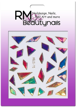 Nail Wrap Holo Splitter Sticker QJ-G784