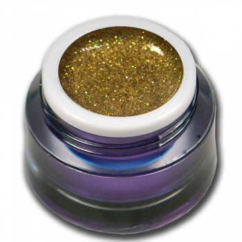 Glittergel UV Gel No. 84 Holo Gold