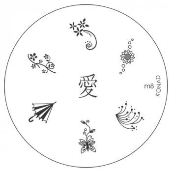 Original KONAD Stamping Plate M8