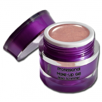 Professional Make UP Gel Glitter Rosa Schimmer dickviskos