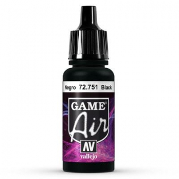 Vallejo Game Air 751 Black, 17 ml