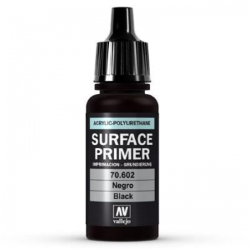 Vallejo Surface Primer Black 17ml