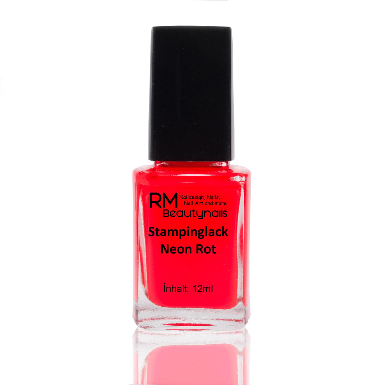 Gewaltig Nageldesign Rot Beste Wahl Stamping Lack Neon 12ml