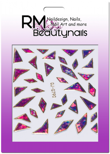 Nail Wrap Holo Splitter Sticker QJ-G790