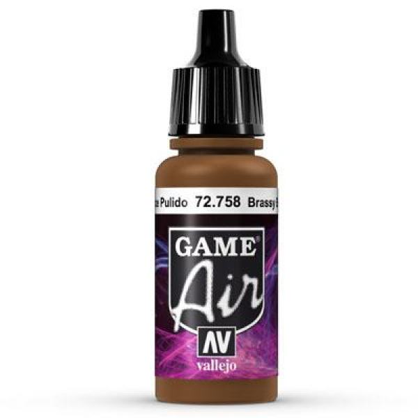Vallejo Game Air 758 Brassy Brass, 17 ml