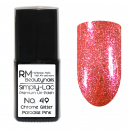 Simply-Lac Premium UV-Polish Nr. 49 Chrome Glitter Paradise Pink 10ml