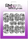Nail Wrap Fullcover Sticker Black White Trible Blumen N277