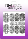 Nail Wrap Fullcover Sticker Black White Trible Blumen N318